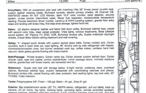 2002 H345 Vantare floor plan